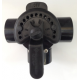 Pentair 263028 3 Way Valve 63mm / 50mm PVC Black suitable for actuator valve